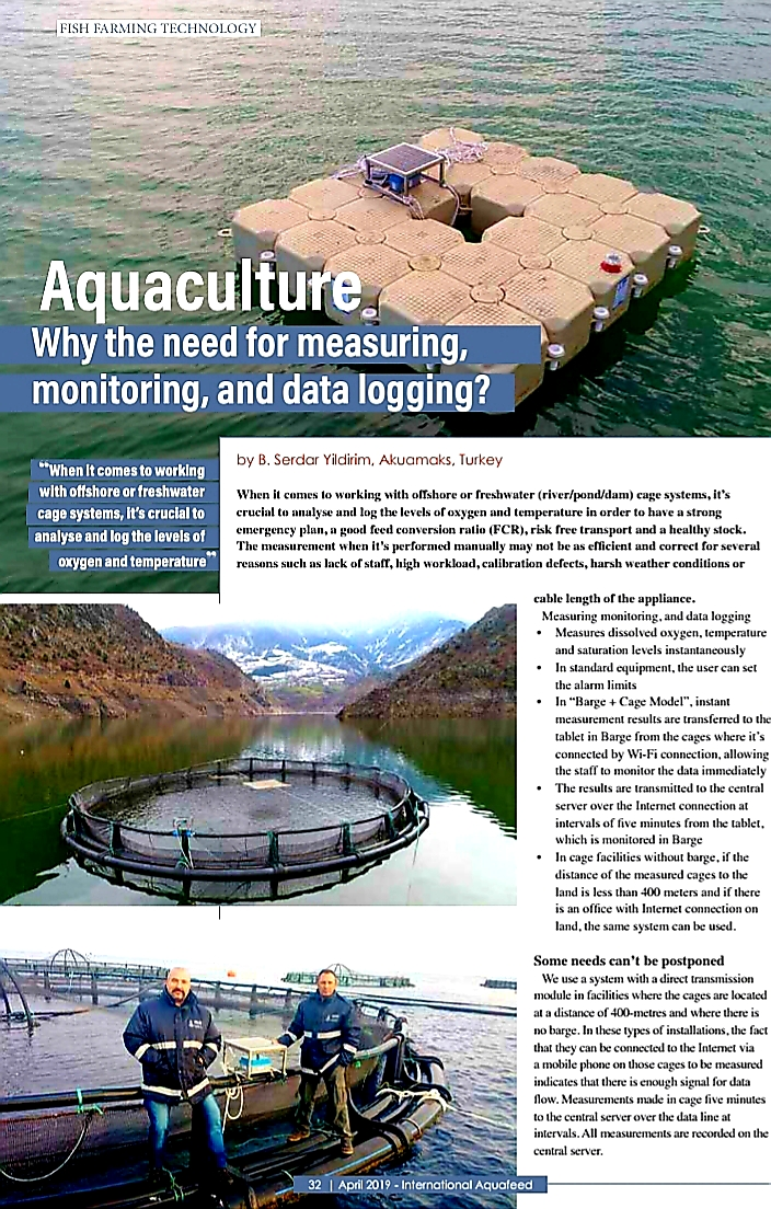 International Aquafeed/Fish Farming Technology Magazine's  April 2019