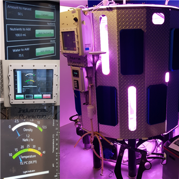 PBR L 1250 model photobioreactor setup completed in the New York Aquarium by Industrial Plankton & Akuamaks technical team.